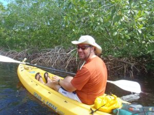 Sasha kayaking utila mangrove channel