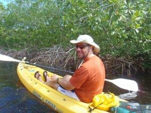 Sasha kayaking utila mangrove channel